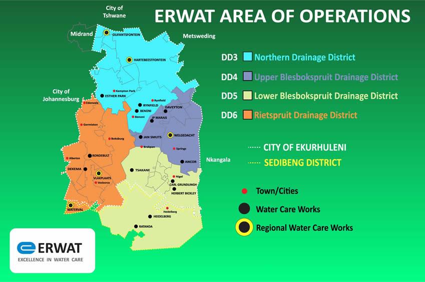 ERWAT Area of Operation